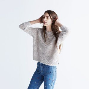 Madewell French Quarter Chunky Knit Crew Sweater